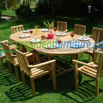 teak garden furniture Stacking Set 3
