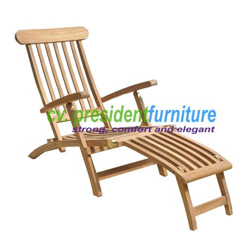 teak garden furniture Steamer Chair Standart