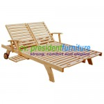 teak garden furniture Sun Double Lounger