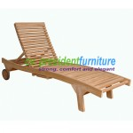 teak garden furniture Swett Lounger