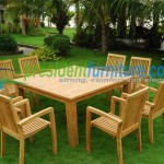 teak garden furniture Tecko 1 Stacking Set 4