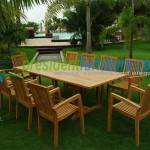 teak garden furniture Tecko 1 Stacking Set 5