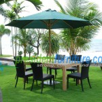teak garden furniture Wicker Set 1