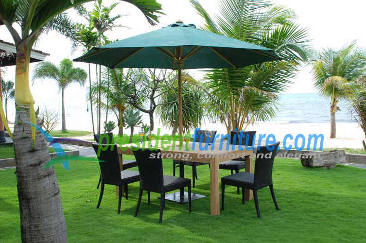 teak garden furniture Wicker Set 1