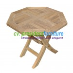 teak garden furniture Mini Oct. Folding Table