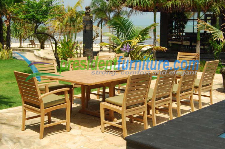 10 seater set by president furniture for 12 seater outdoor table and chairs