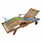 teak garden furniture Ziare Lounger