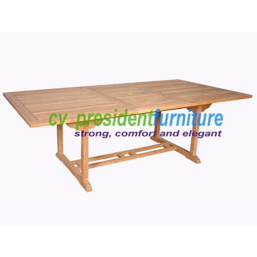 teak garden furniture Rect. Extending Table 180-240X100 (Small Slat)