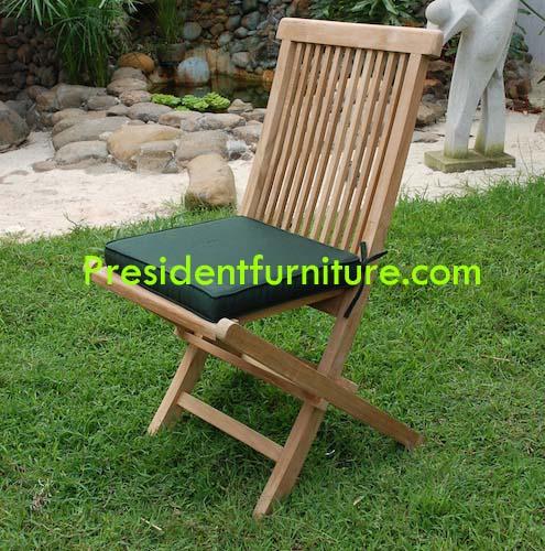 Cushion Folding Chair Green