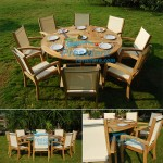 President Teak Stacking White Batyline Set