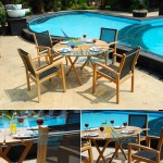 Teak Batyline Audia Stacking Chair