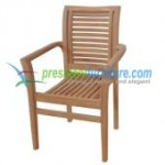 teak garden furniture Balina Stacking Chair