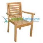 teak garden furniture Bristol Stacking Chair