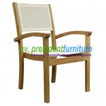 teak garden furniture Calypso Batyline Stacking
