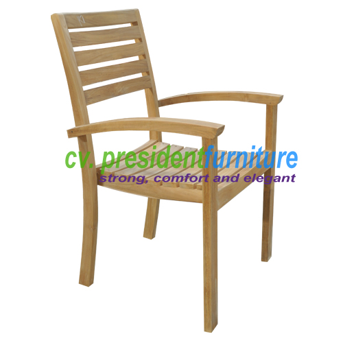 teak garden furniture Calypso Stacking Chair