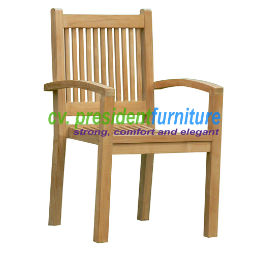 teak garden furniture Flat Stacking
