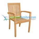 teak garden furniture Patara Arm Stacking