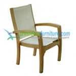 teak garden furniture President Batyline Stacking