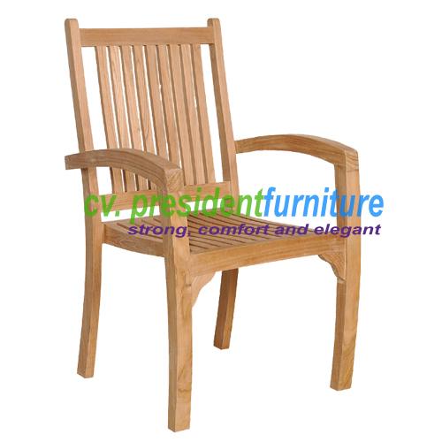 teak garden furniture President Stacking Chair