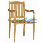 teak garden furniture Slice Arm Stacking