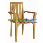 teak garden furniture Stacking Arm Chair Standart