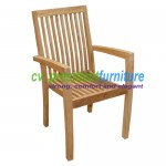 teak garden furniture Tecko 1 Stacking