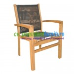 teak garden furniture Tecko 3 Batyline Stacking