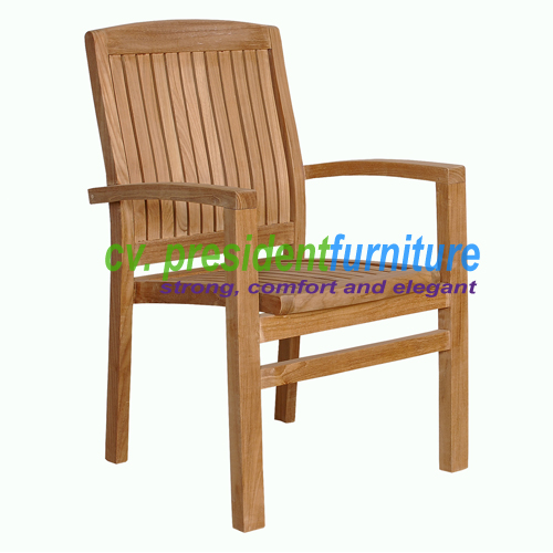 teak garden furniture Tecko 3 Stacking Chair