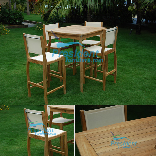 teak garden furniture Bahama Bar Table 90x90x110 Bahama Bar Chair