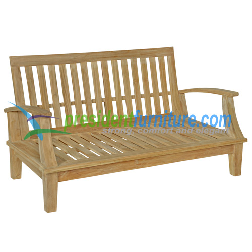 teak garden furniture Briana Love Seat
