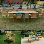 teak garden furniture Oval D Ext Table 200-300x110 Scrol Back Stacking Chair