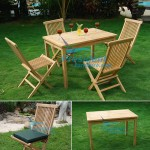 teak garden furniture Rectangular Table Bistro 110x70cm Folding Chair