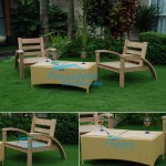 teak garden furniture Becak Arm Chair Wiker Table