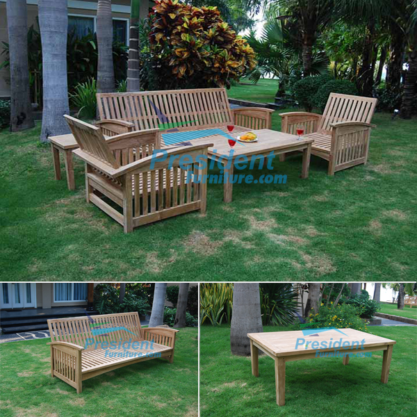 teak garden furniture Briana Coffee Table Carson Bench