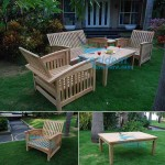 teak garden furniture Briana Coffee Table Carson Chair