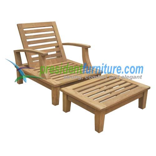 teak garden furniture Briana Relax Chair Briana Relax Ottoman