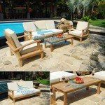 teak garden furniture Briana Sofa Taunton Coffee Table