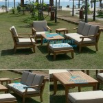 teak garden furniture Castle Sofa Castle Coffee Table