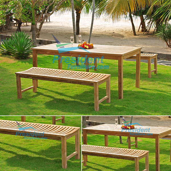 teak garden furniture Faxhall 140 Rectangular Table 150