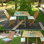 teak garden furniture Folding Chair Square Folding Table 70