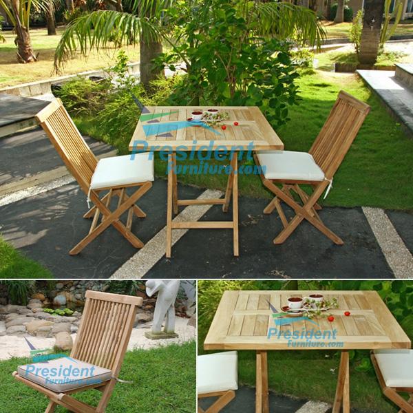 teak garden furniture Folding Chair Square Folding Table 70