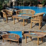 teak garden furniture Great Peanut Bench 150 Peanut Coffee Table