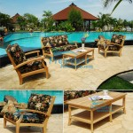 teak garden furniture Mambak Deep Seating Coffee Table