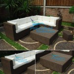 teak garden furniture Wiker Sofa 2 Wiker Coffee Table 3