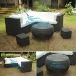 teak garden furniture Wiker Sofa 2 Wiker Table 2