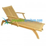 Teak Garden Furniture Elegant Lounger