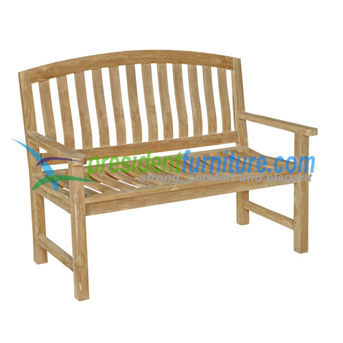 teak garden furniture Giverny Bench 120
