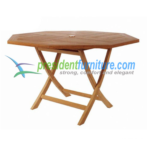 teak garden furniture Octagonal Folding Table 120