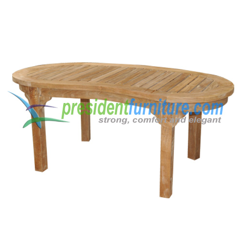 teak garden furniture Peanut Coffee Table