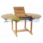 teak garden furniture Round Ext Table 120-170x120